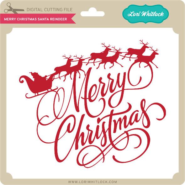 Merry Christmas Santa Reindeer