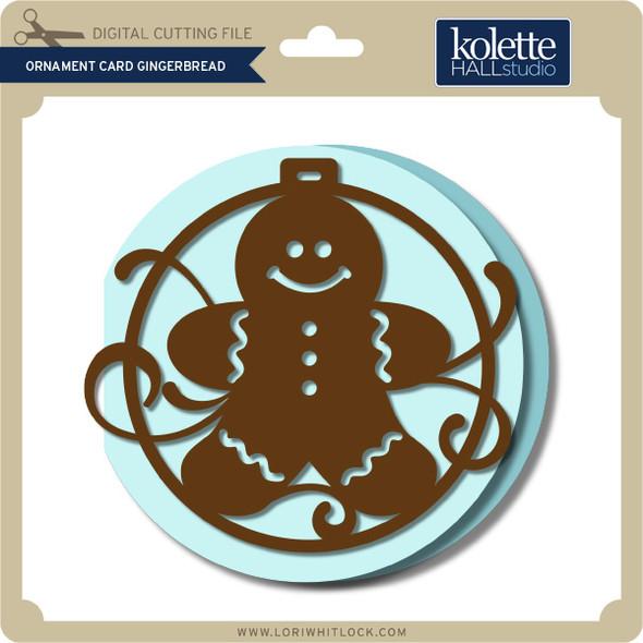 Ornament Card Gingerbread