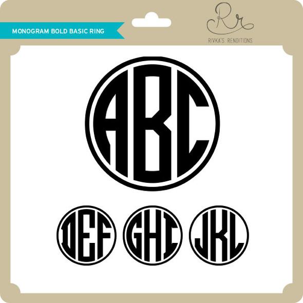 Monogram Bold Basic Ring
