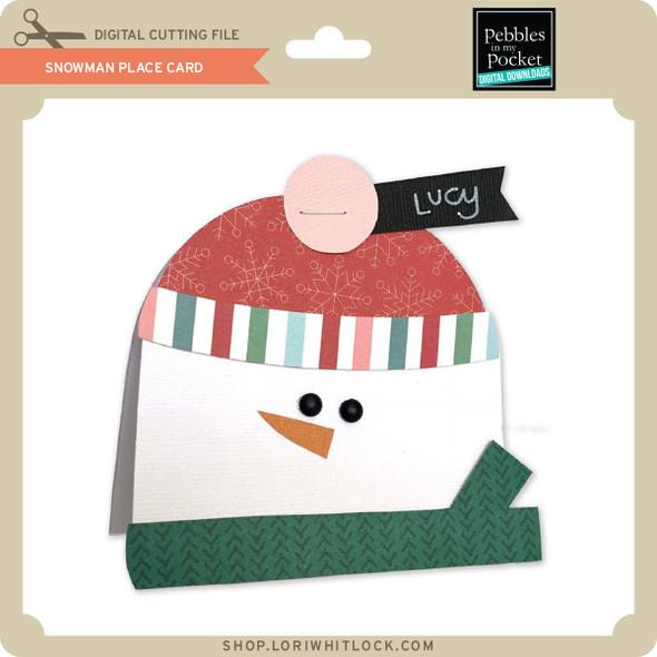 Snowman Place Card