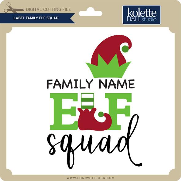 Label Family Elf Squad