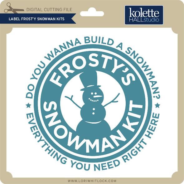 Label Frosty Snowman Kits