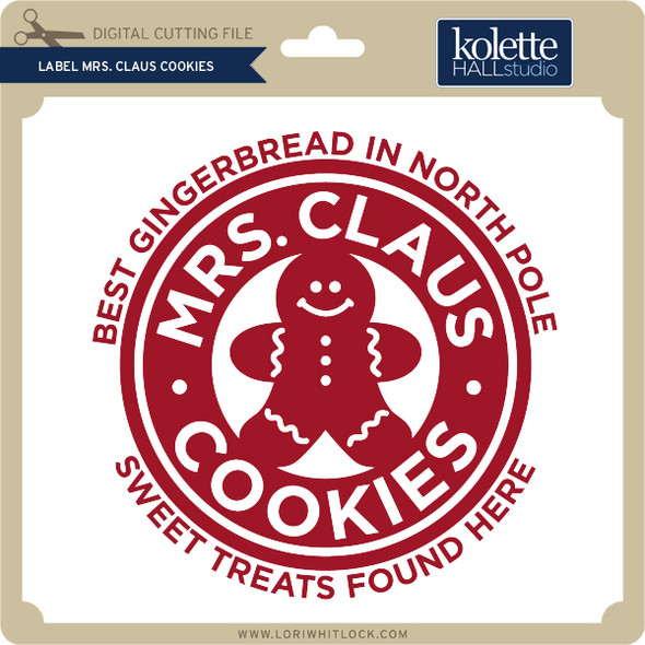 Label Mrs Claus Cookies