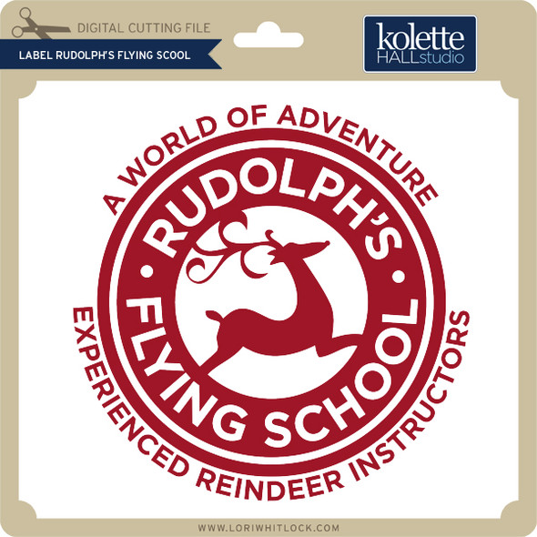 Label Ruldolph's Flying School