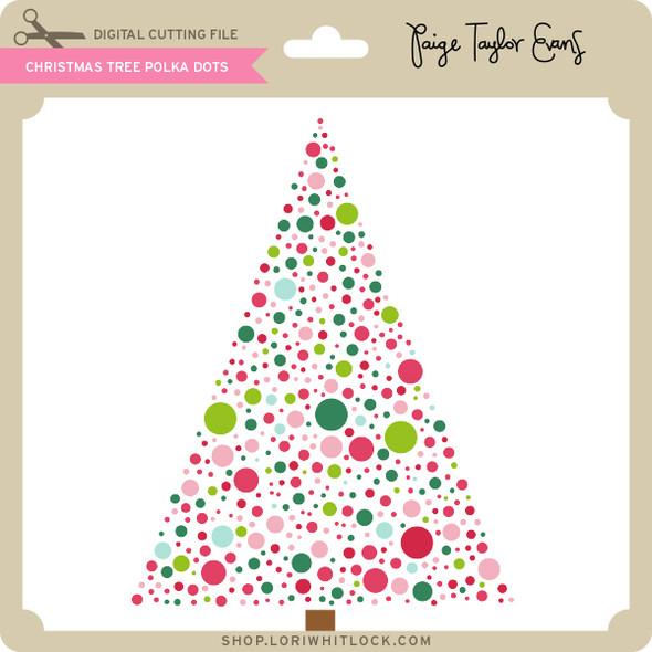 Christmas Tree Polka Dots