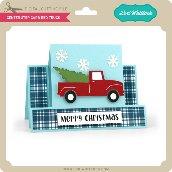 Center Step Card Red Truck