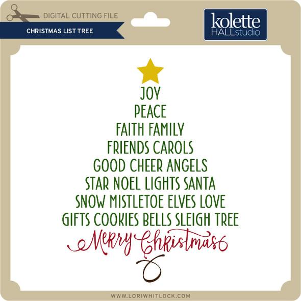 Christmas List Tree