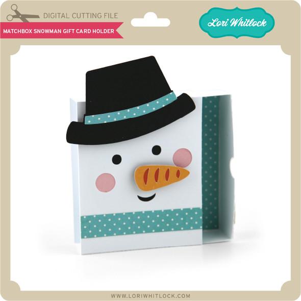 Matchbox Snowman Gift Card Holder