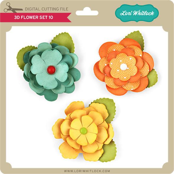 3D Flower Set 7