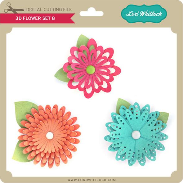 3D Flower Set 8