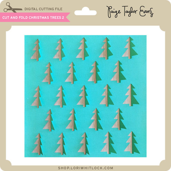 Cut and Fold Chrismtas Trees 2
