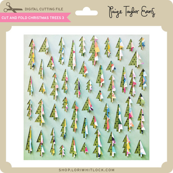 Cut and Fold Christmas Trees 3
