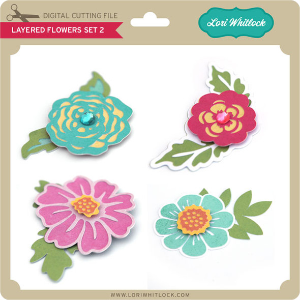 Layered Flowers Set 2