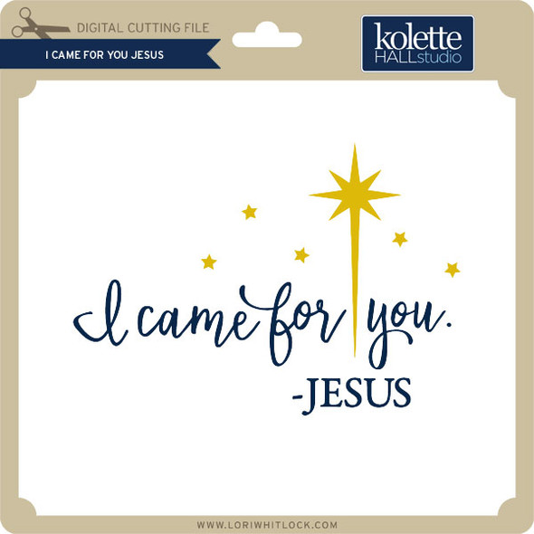 I Came for You Jesus