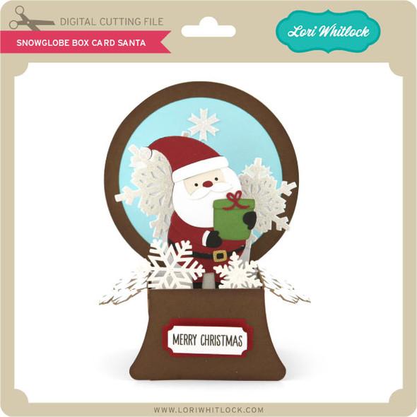 Snowglobe Box Card Santa