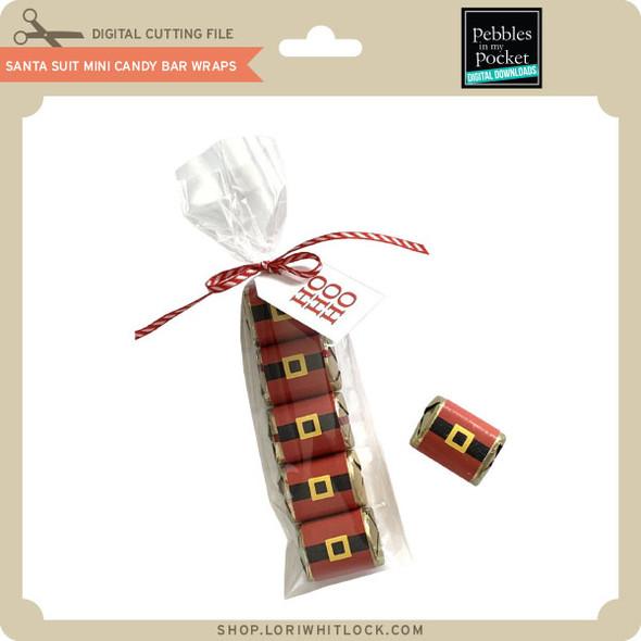 Santa Suit Mini Candy Bar Wraps