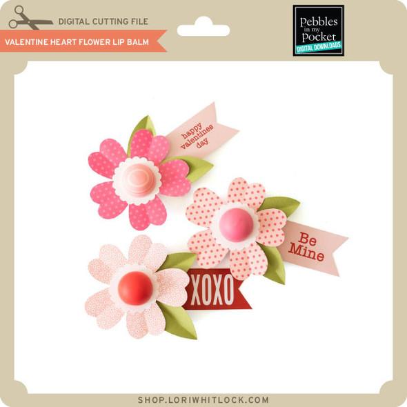 Valentine Heart Flower Lip Balm