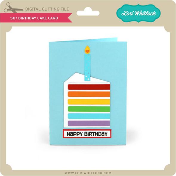 5x7 Birthday Cake Card