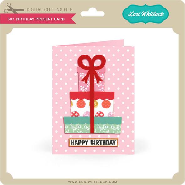 5x7 Birthday Present Card