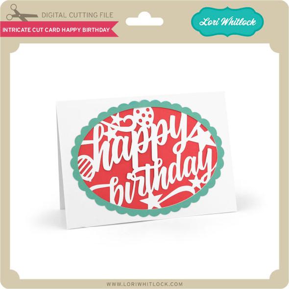 Intricate Cut Card Happy Birthday