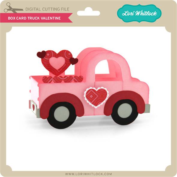 Box Card Truck Valentine