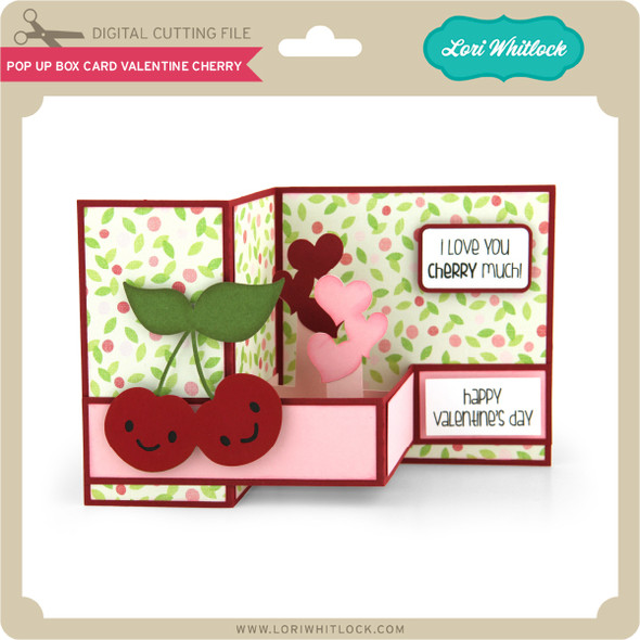 Pop Up Box Card Valentine Cherry