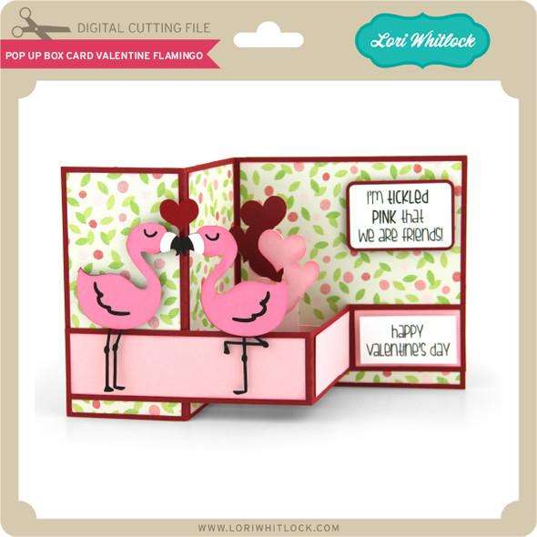 Pop Up Box Card Valentine Flamingo