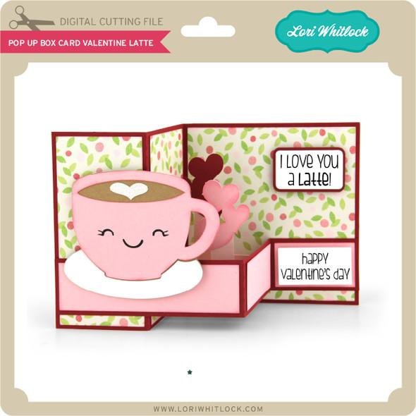 Pop Up Box Card Valentine Latte