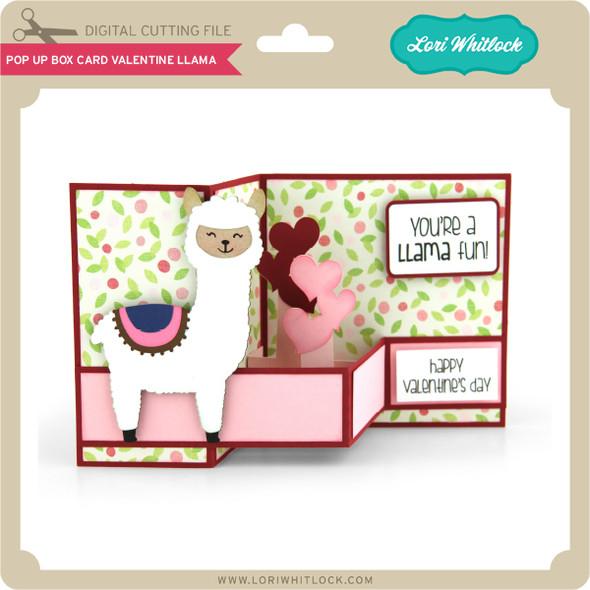 Pop Up Box Card Valentine Llama