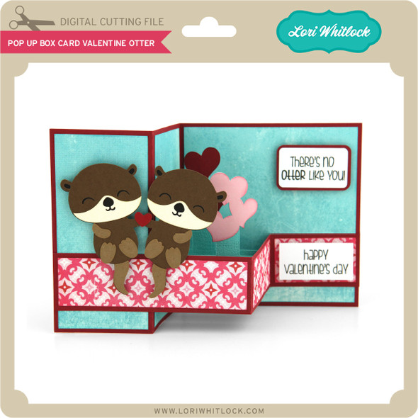 Pop Up Box Card Valentine Otter