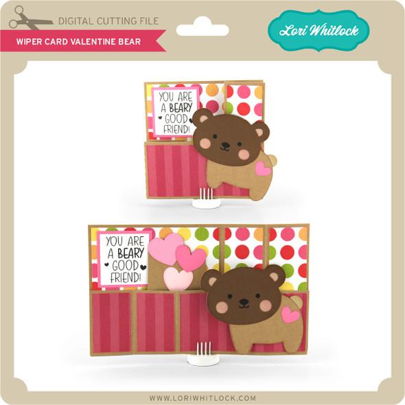 Wiper Card Valentine Bear