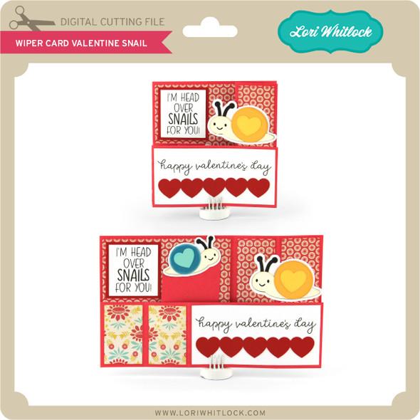 Wiper Card Valentine Snail