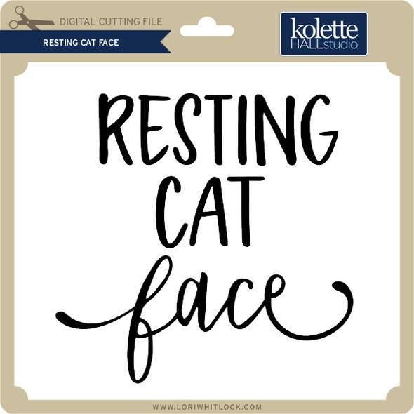 Resting Cat Face 2