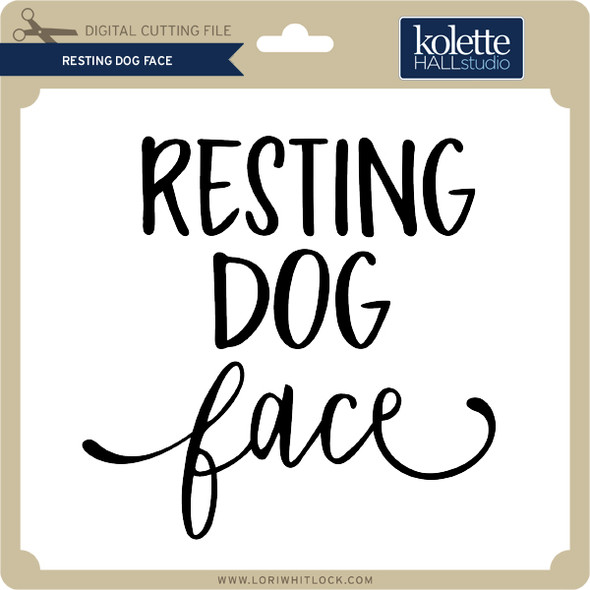 Resting Dog Face 2