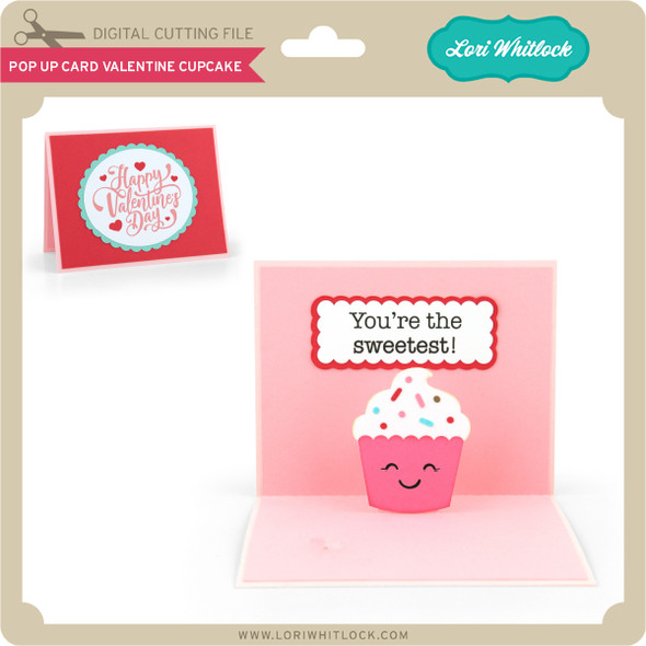 Pop Up Card Valentine Cupcake