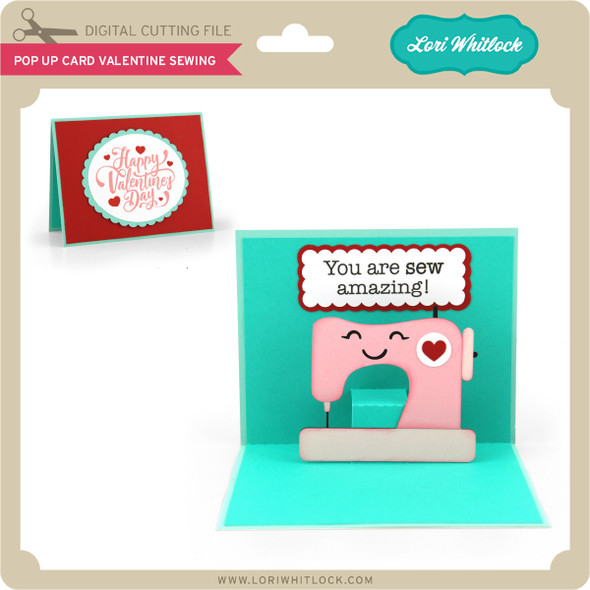 Pop Up Card Valentine Sewing