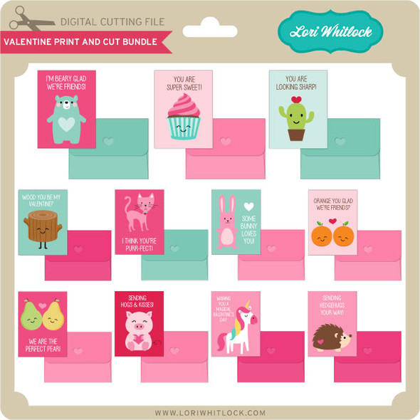 Valentine Print and Cut Bundle