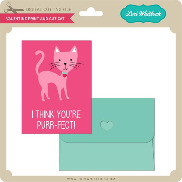 Valentine Print and Cut Cat