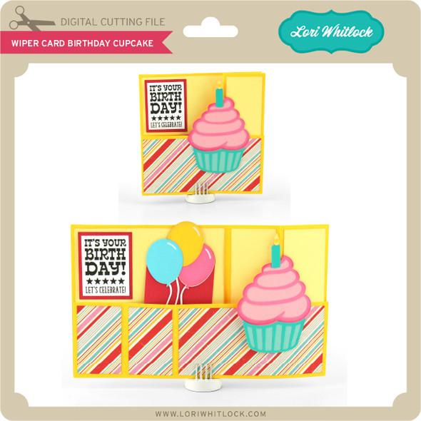 Wiper Card Birthday Cupcake