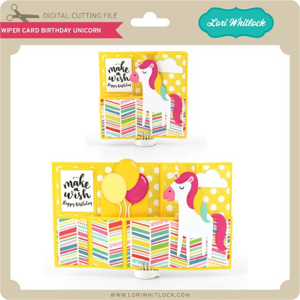 Wiper Card Birthday Unicorn