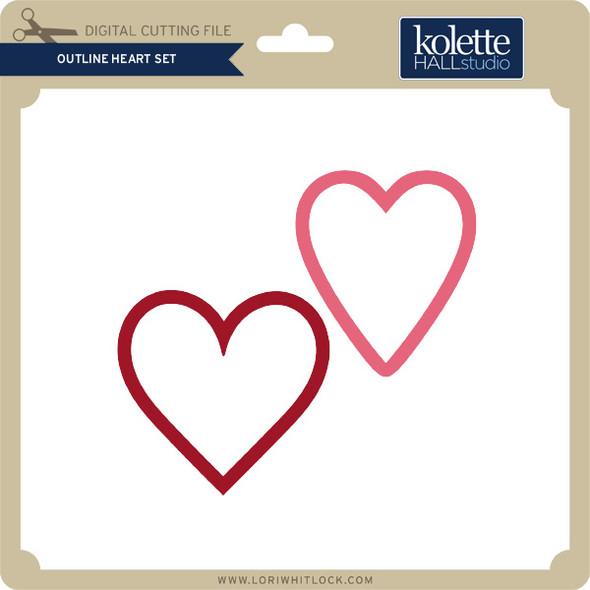 Outline Heart Set