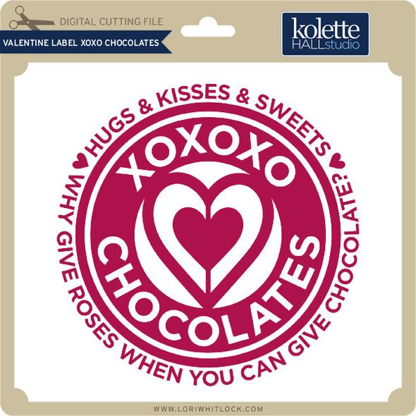 Valentine Label XOXO Chocolates