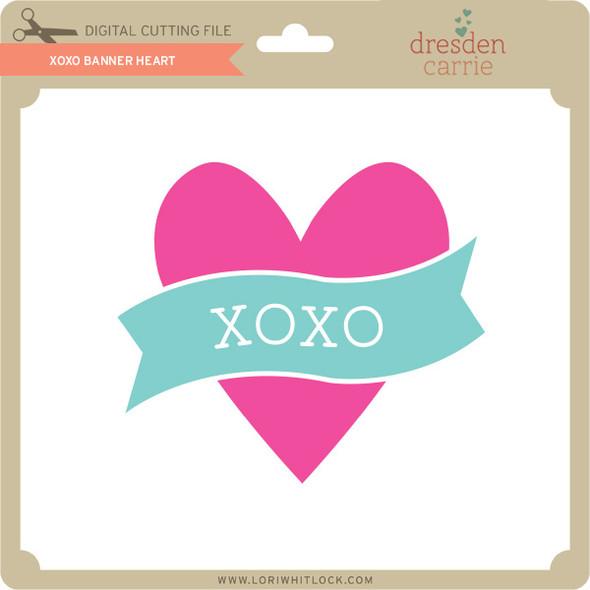 XOXO Banner Heart