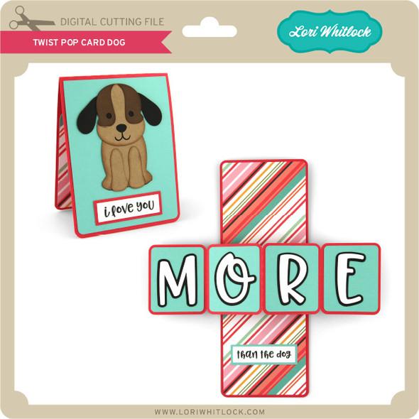 Twist Pop Card Dog