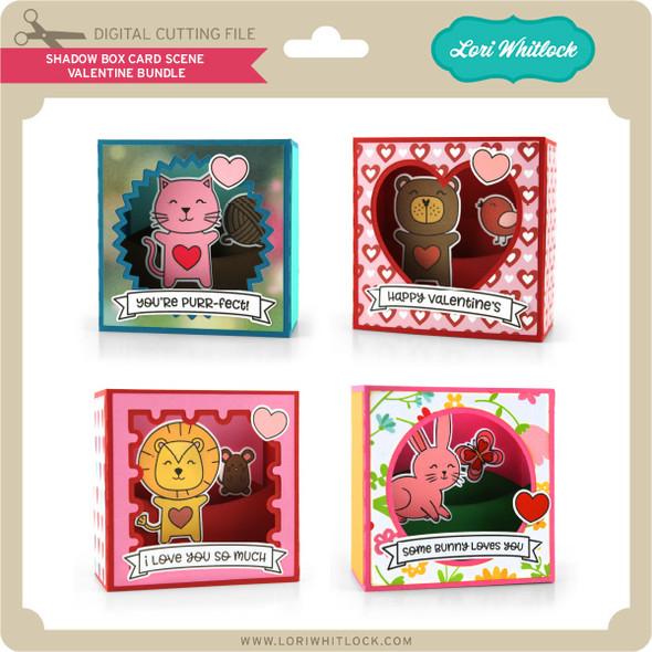 Shadow Box Card Scene Valentine Bundle