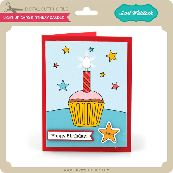 Light Up Card Birthday Candle
