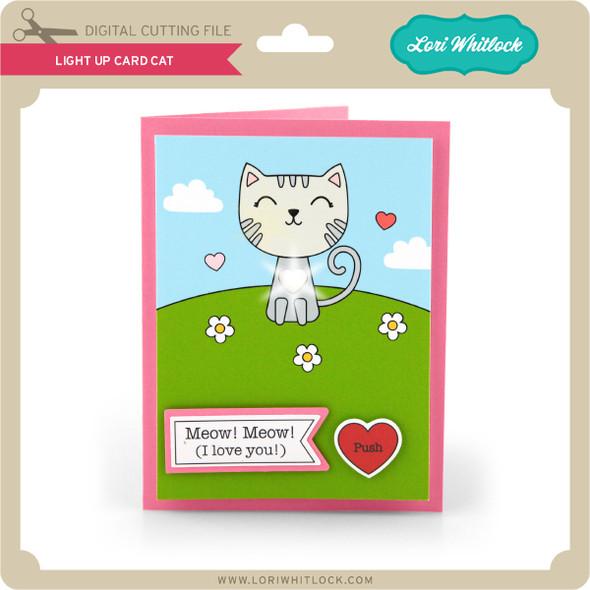 Light Up Card Cat