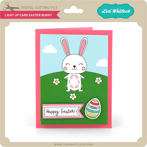 Light Up Card Easter Bunny