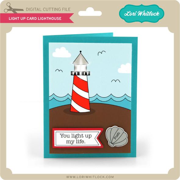 Light Up Card Lighthouse