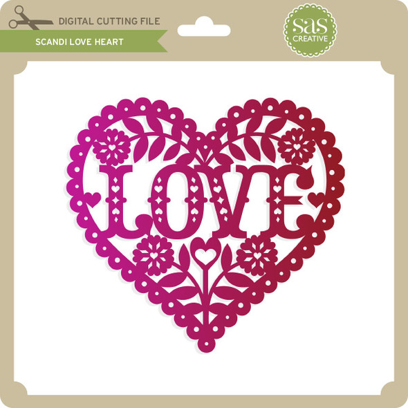 Scandi Love Heart